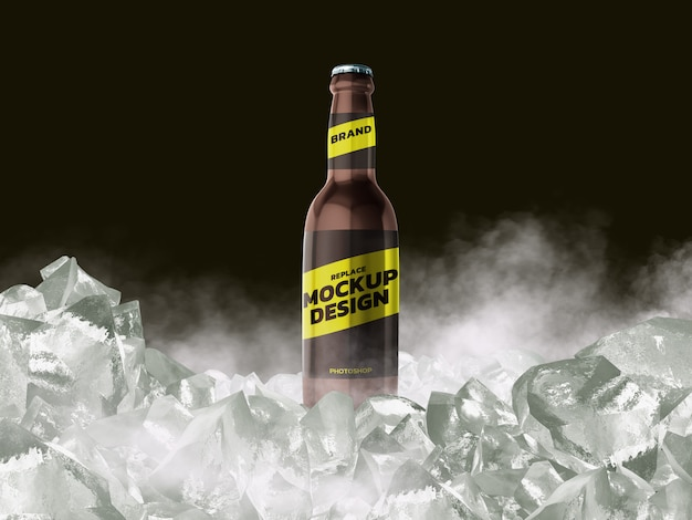 Bottle mockup 3d rendering  design