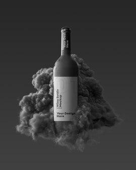 Бутылка дизайн макета 3d повторение изолированные