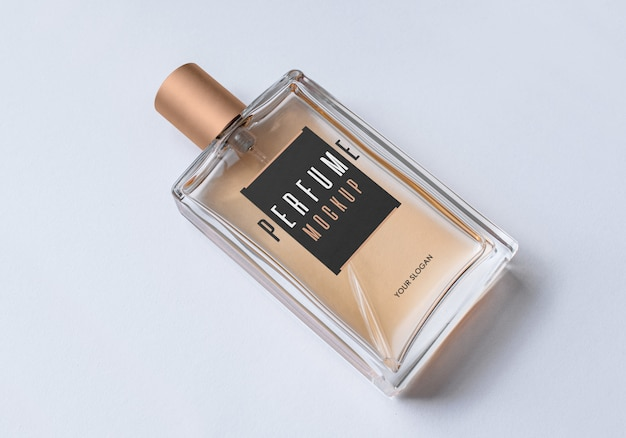 Bottle of perfume mockup