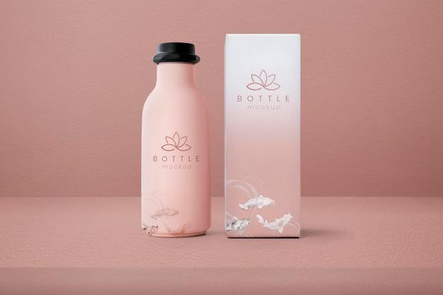 Bottle product mockup psd beauty packaging