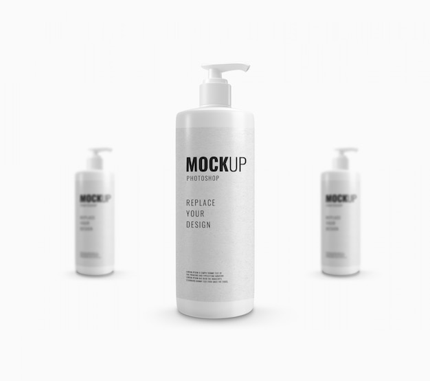 Bottle pump shower gel mockup realistic