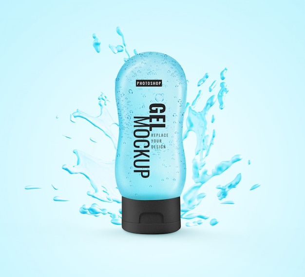 Bottle tube gel hand sanitizer mockup