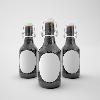 Bottles with blank label