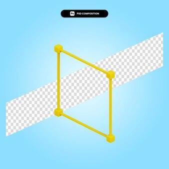 Граничная рамка 3d визуализации изолированных иллюстрация