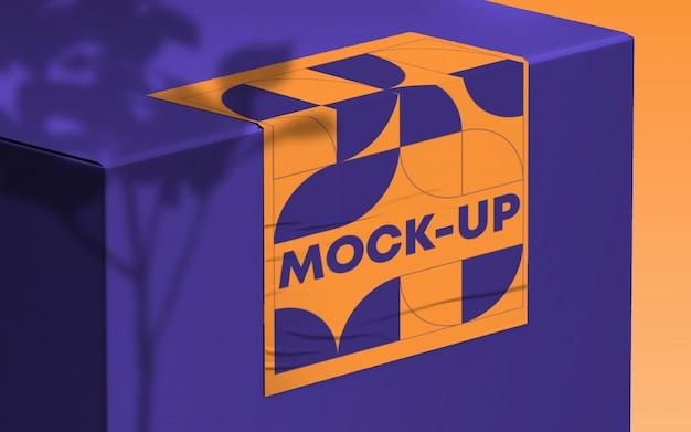Box branding mockup psd
