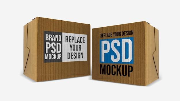 Коробка мокап 3d визуализация дизайн