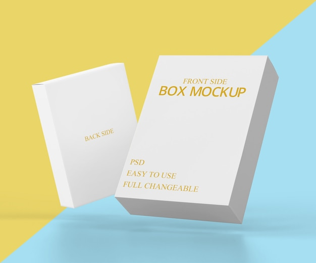 ビジネス用ボックスモックアップデザイン