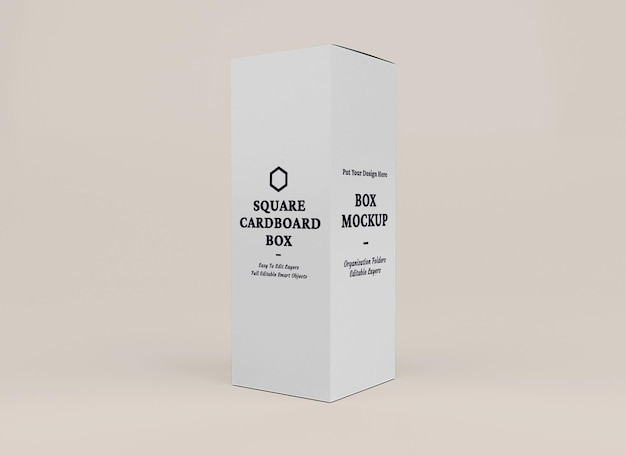 Дизайн макета коробки в концепции упаковки
