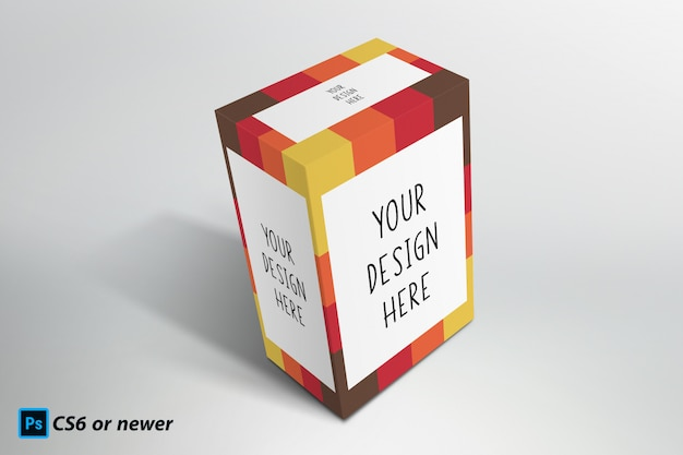 Box package mock up