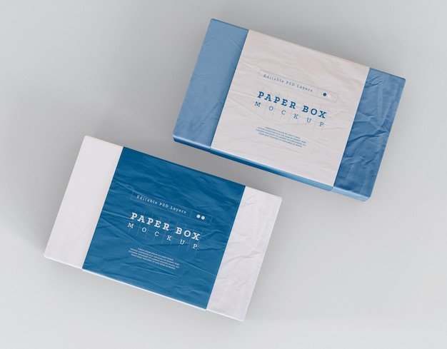 Box packaging mockup