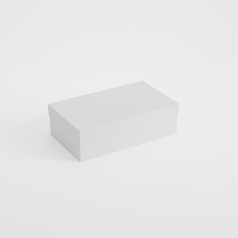 Box packaging product mockup in 3d rendering