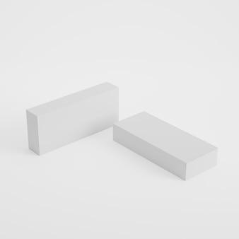 3dレンダリングでのボックスパッケージ製品のモックアップ