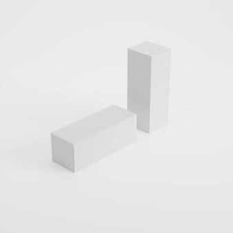 Макет упаковки коробки в 3d-рендеринге