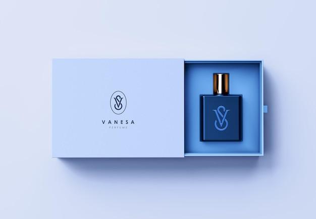 ボックス香水包装モックアップデザイン