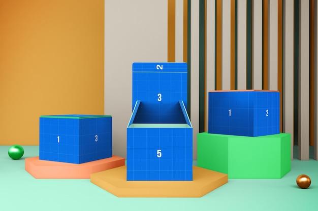 3d 디자인 모형의 상자 렌더링