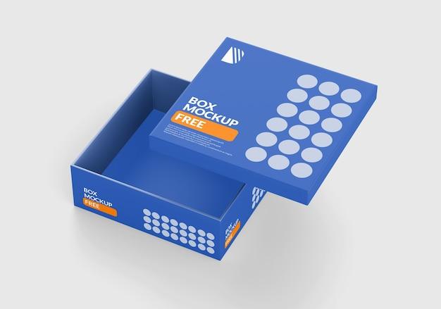 Коробка квадратный макет изолированные