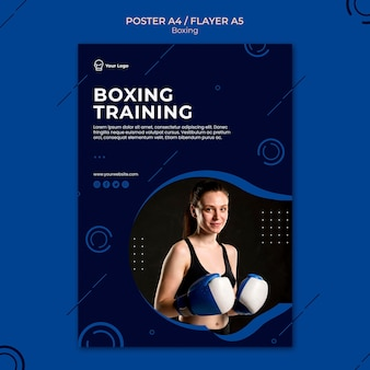 Box training workout sport poster template