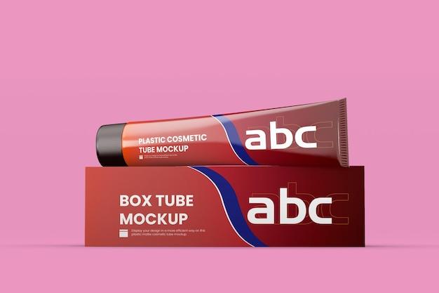 Box tube mockup design rendering