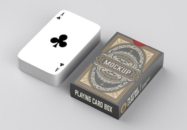 Коробка с макетом игральных карт