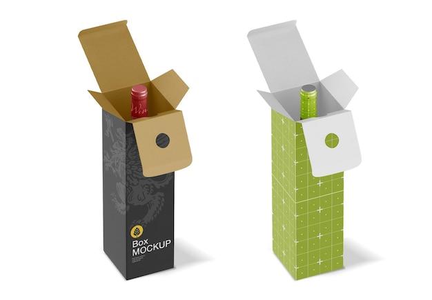 ワインボトルモックアップ付きボックス