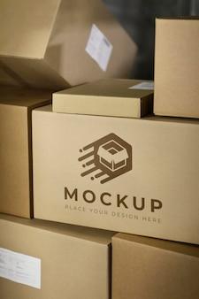 Mockup di disposizione di scatole