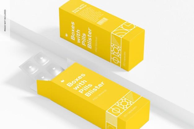 Коробки с таблетками в блистерной упаковке