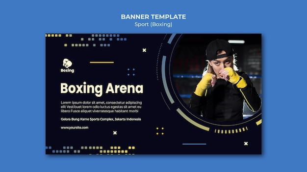Boxing ad banner template