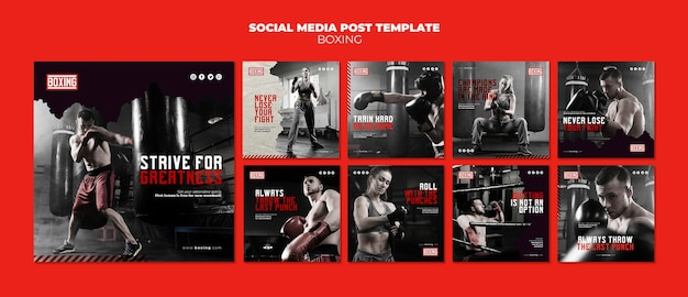 Boxing ad instagram post template