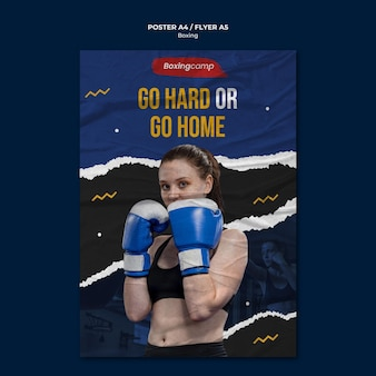 Boxing flyer a5 template