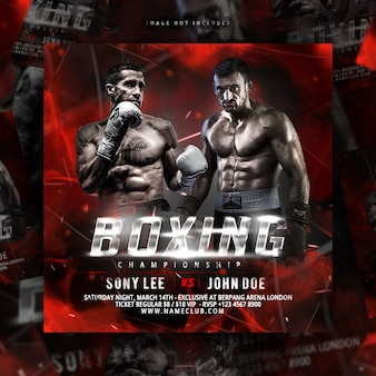 Boxing flyer premium