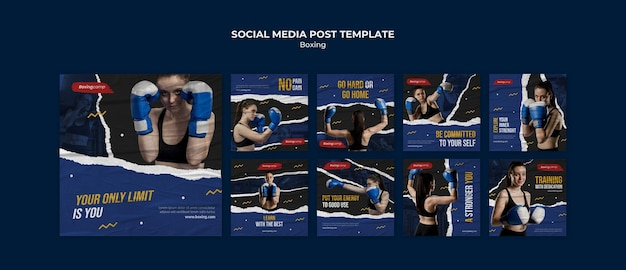 ボクシングソーシャルメディア投稿テンプレート