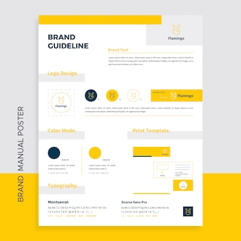 Brand manual poster template