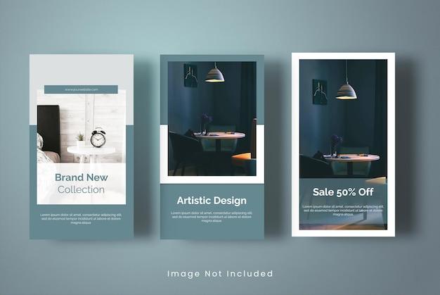 Brand new furniture instagram stories template