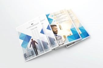 Branding a6 flyer stack mockup