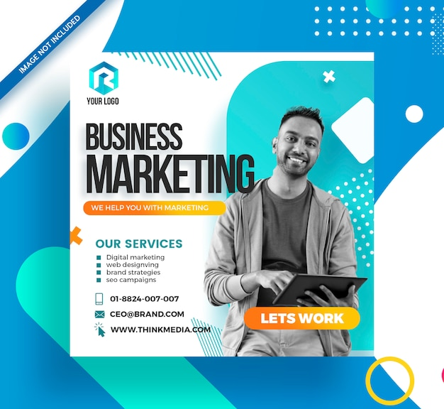 Branding agency corporate social media post banner