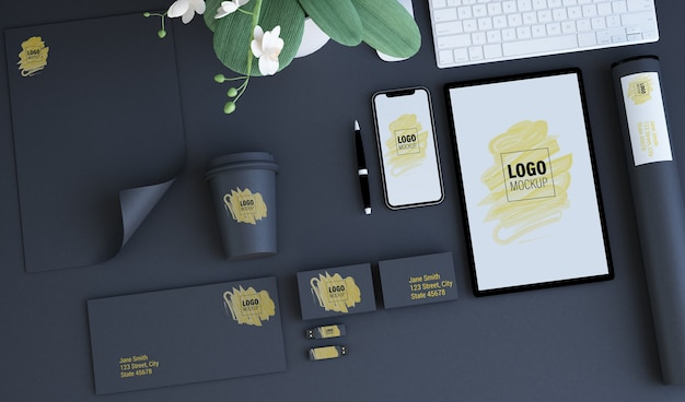 Branding elements mock up