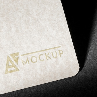 Branding identity business card mock-up close-up