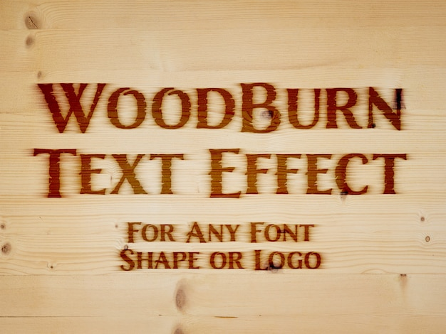 Branding iron text effect