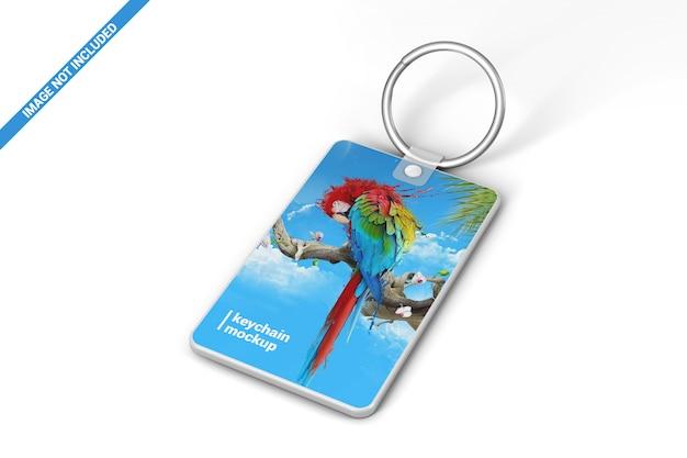 Branding keychain mockup