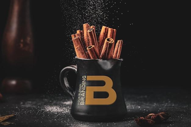 Branding logo on coffee mug