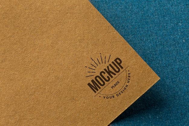 Branding mock-up on card arrangement
