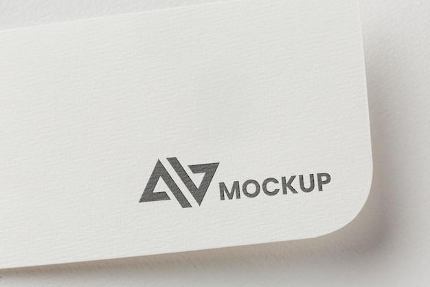 Mock-up del marchio sull'assortimento di carte