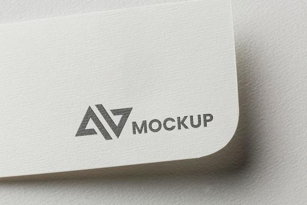 Branding mock-up on card assortment