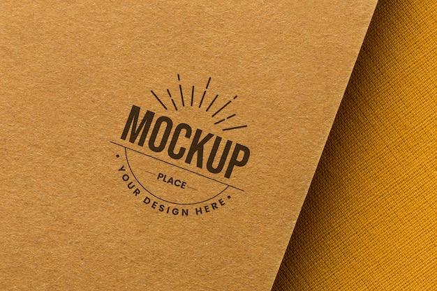 Branding mock-up on card composition