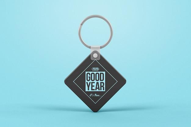 Branding rhombus key chain mockup