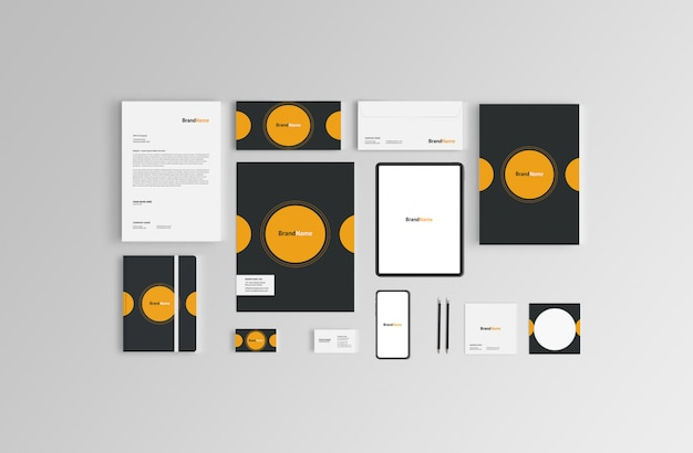 Branding stationary mock-up
