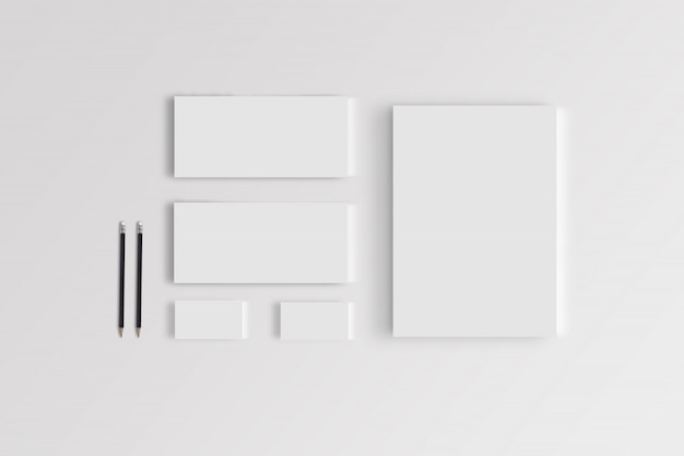 Branding stationary mockup template