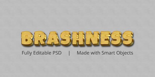 Brashness text effect