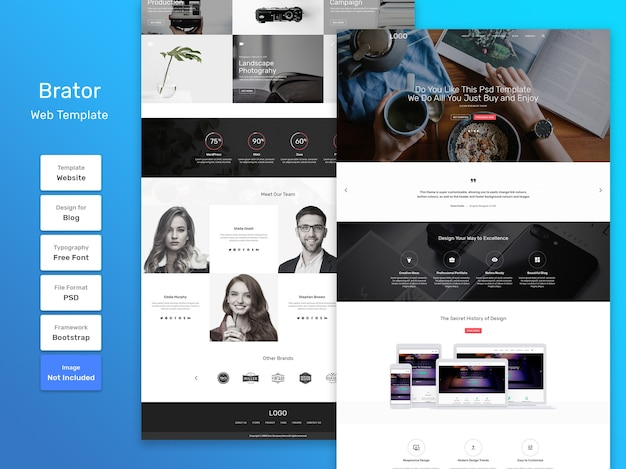 Brator business and agency web template