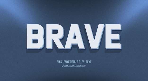 Brave 3d text style effect